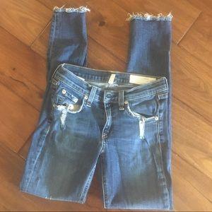 RAG & BONE distressed Skinny Jeans, Size 24